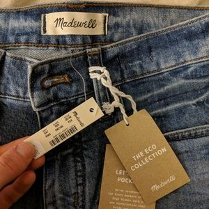 Madewell straight leg jeans NWT